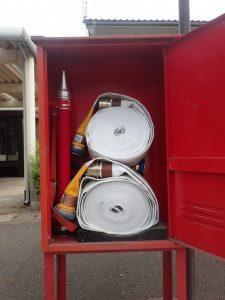 消火栓ホース格納箱内の備品盗難被害が発生しています!
